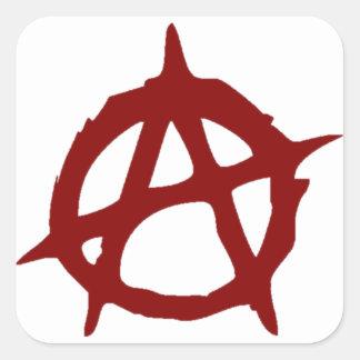 Sticker Carré Anarchie - UNE : Copie