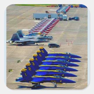 Sticker Carré Anges bleus
