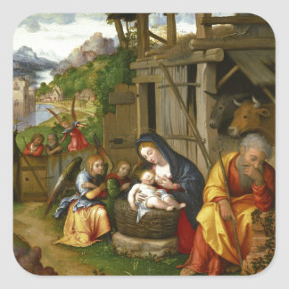 Sticker Carré Anges c1515 de nativité et d'enfant