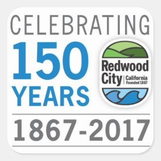 Sticker Carré Anniversaire de Redwood City 150th
