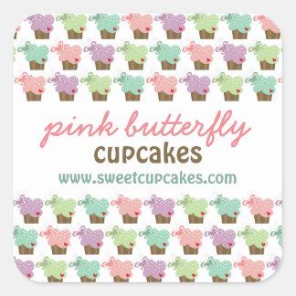 Sticker Carré Anniversaire lunatique de bonbon à papillons