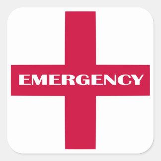 Sticker Carré Approvisionnements de premiers secours/kit de