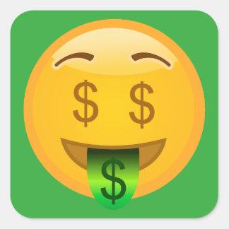 Sticker Carré Argent Emoji