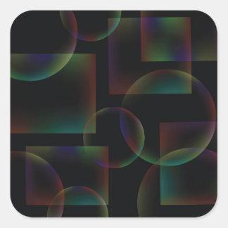 Sticker Carré Arrière - plan abstrait noir