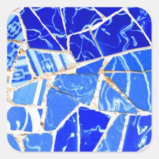 Sticker Carré Arrière - plan bleu abstrait