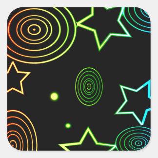 Sticker Carré Arrière - plan d'étoiles