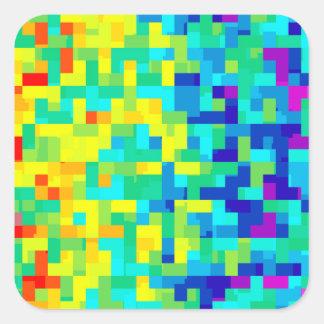 Sticker Carré Arrière - plan sans couture de motif de pixel en