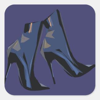 Sticker Carré Art à la mode de botte