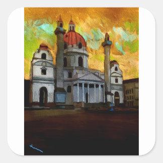 Sticker Carré Art autrichien d'église