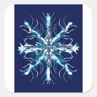 Sticker Carré Art d'autisme de flocon de neige