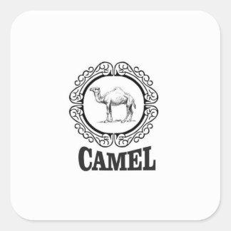 Sticker Carré art de logo de chameau