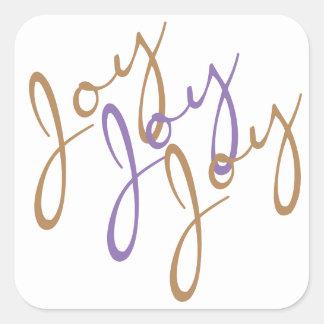 Sticker Carré Art de typographie de joie de joie de joie de Noël