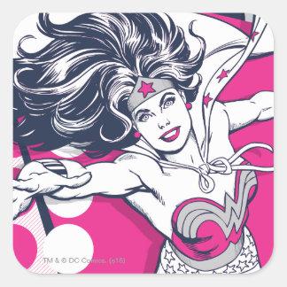 Sticker Carré Art fascinant de caractère de femme de merveille