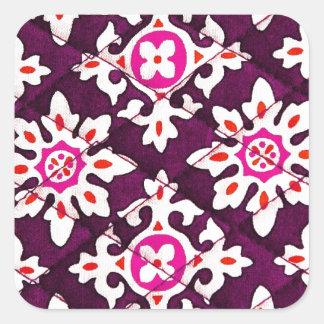 Sticker Carré Art numérique rose L de gradient de lueur d'art de