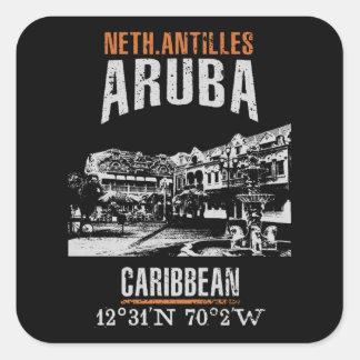 Sticker Carré Aruba