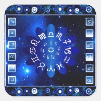 Sticker Carré Astrologie