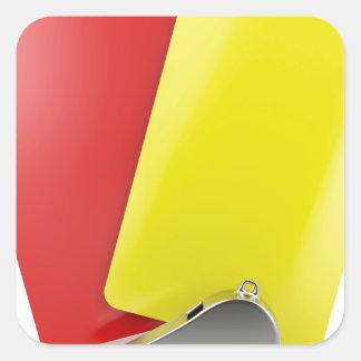 Sticker Carré Attributs d'arbitre du football