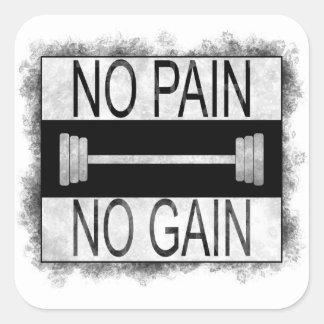Sticker Carré Aucune douleur aucun gain