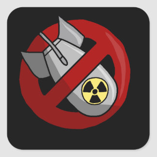 Sticker Carré Aucunes armes nucléaires
