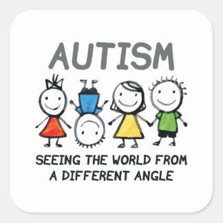 Sticker Carré Autisme
