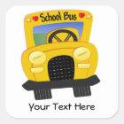 Sticker Carré Autobus scolaire 2 (personnalisable)