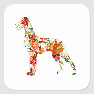 Sticker Carré Automne great dane