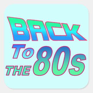 Sticker Carré Aux années 80 2