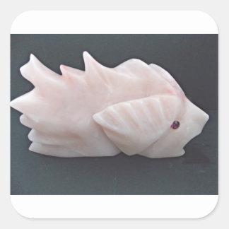Sticker Carré Avant mystérieux soutenu épineux side1 de poissons