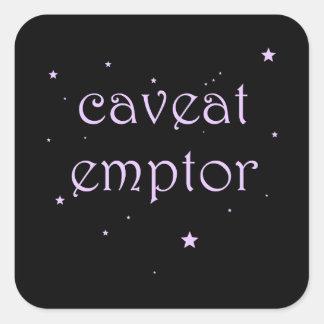 Sticker Carré Avertissement Emptor - Carpe Diem