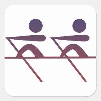Sticker Carré Aviron
