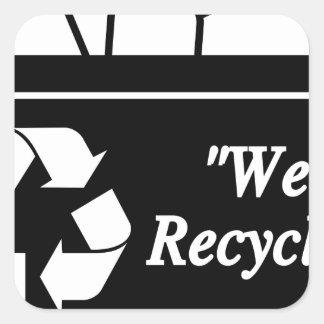 Sticker Carré Bac de recyclage