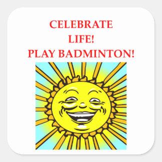 Sticker Carré badminton