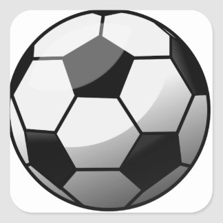 Sticker Carré Ballon de football