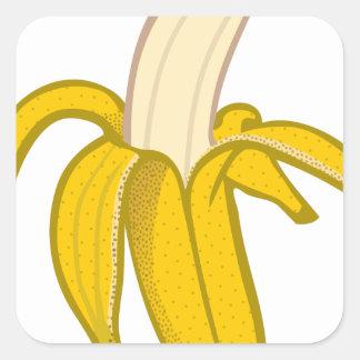 Sticker Carré Banane épluchée