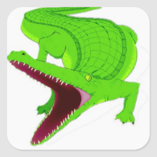 Sticker Carré bande dessinée d'alligator