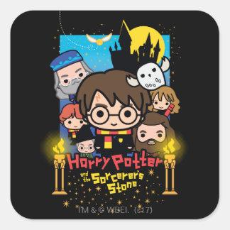 Sticker Carré Bande dessinée Harry Potter et la pierre du