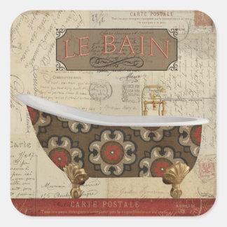 Sticker Carré Bath de carte postale