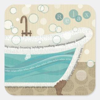 Sticker Carré Bath de détente