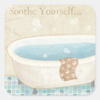 Sticker Carré Bath de mosaïque