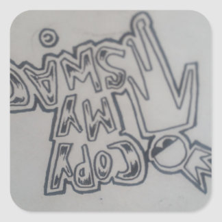 Sticker Carré Bâton de terme de butins