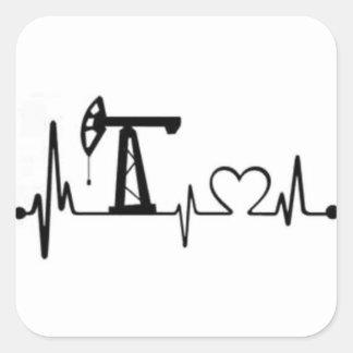 Sticker Carré Battement de coeur de Jack de pompe