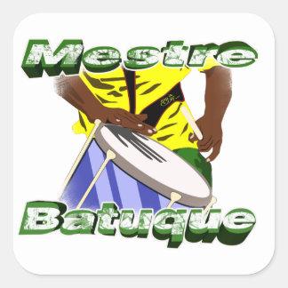 Sticker Carré BBaC Stiker Mestre Batuc Samba Batucada Brasil