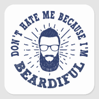 Sticker Carré Beardiful
