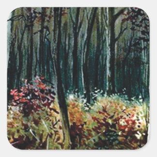 Sticker Carré beauté dans les bois