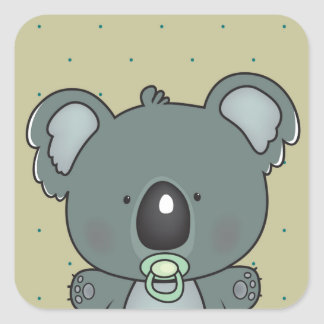 Sticker Carré bébé de koala
