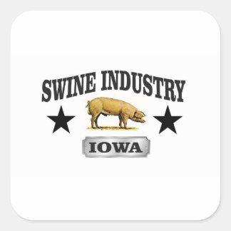 Sticker Carré bébé d'industrie de porcs