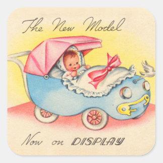 Sticker Carré Bébé vintage le nouveau modèle ! Maintenant sur