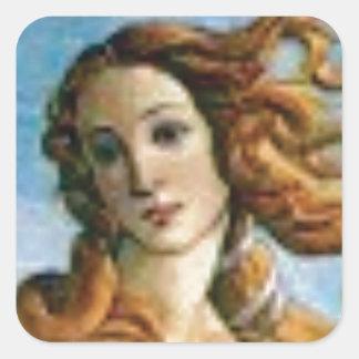 Sticker Carré belle huile blonde
