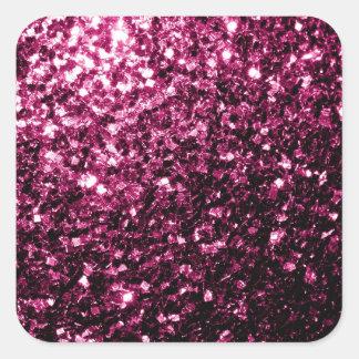 Sticker Carré Belles étincelles roses de scintillement
