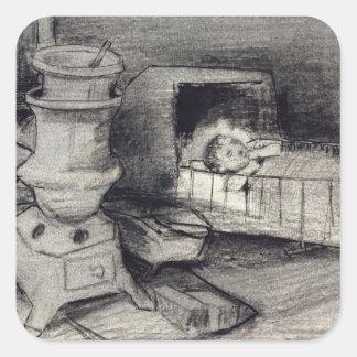 Sticker Carré Berceau de Vincent van Gogh |
